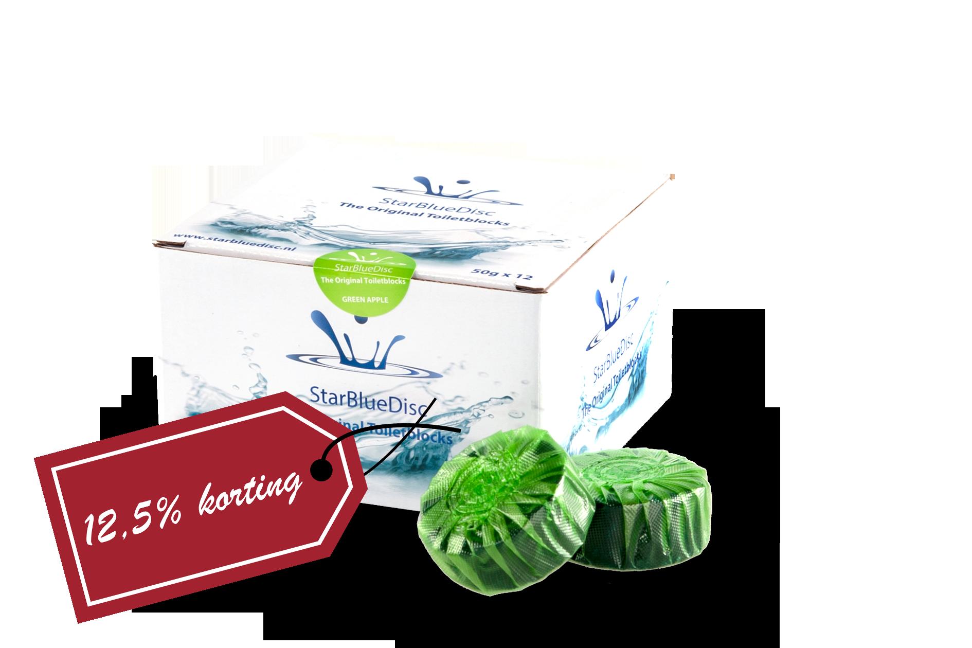 6x Halfjaar verpakking Toiletblokjes Groen<br>!! Nu 10% korting !!