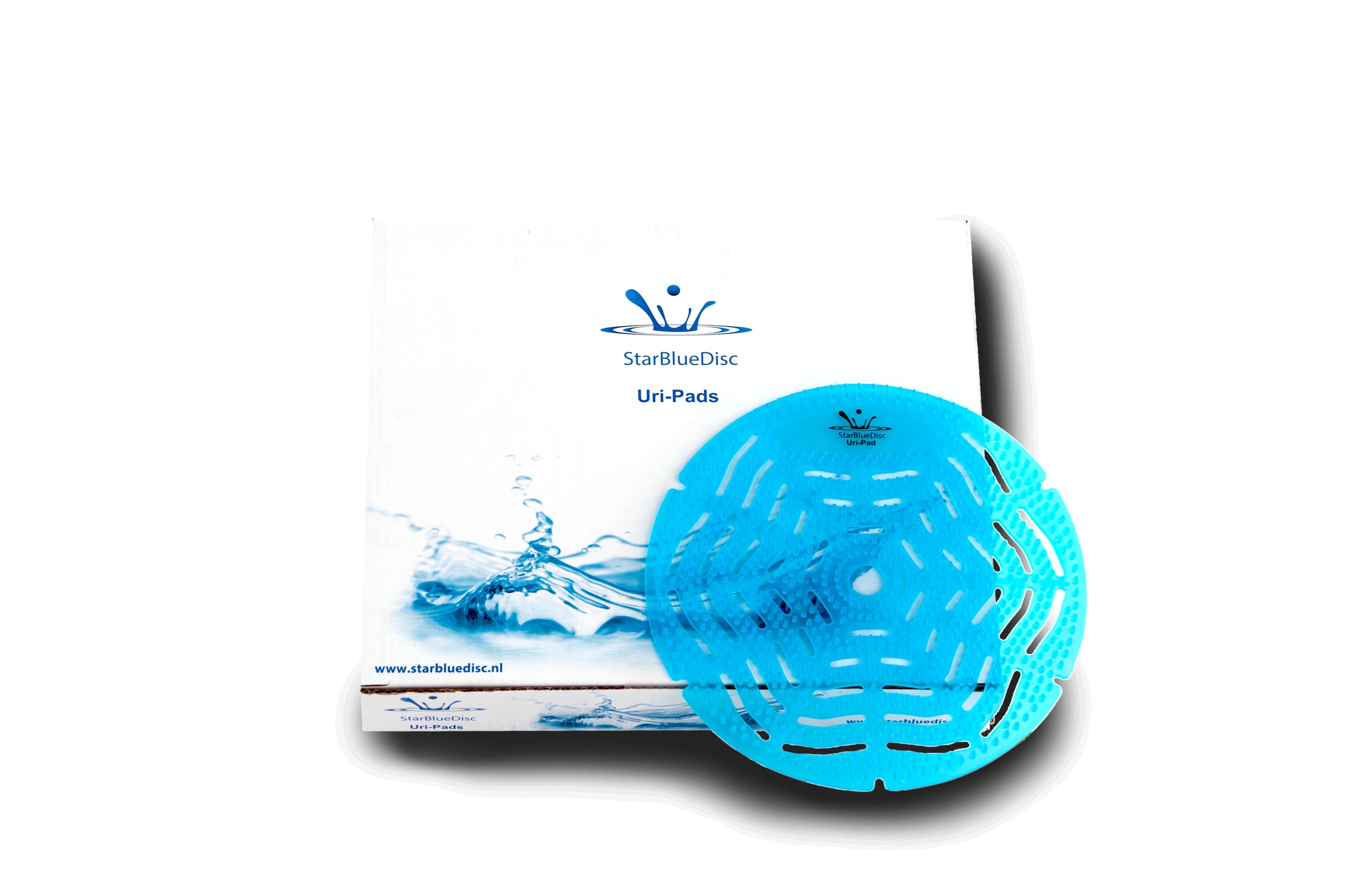 StarBlueDisc <br>Uri-Pad OCEAN<br><h5>Art.nr: 515.351.140<br>Kleur: Blauw.<br>Geur:Ocean.<br>Inhoud: 5 stuks per verpakking.</h5>